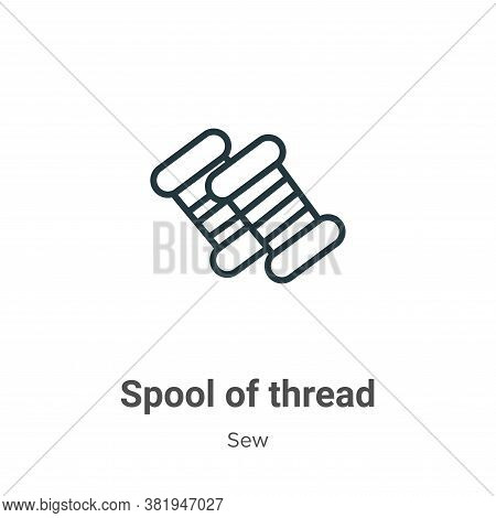 Spool of thread icon isolated on white background from sew collection. Spool of thread icon trendy a