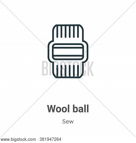 Wool ball icon isolated on white background from sew collection. Wool ball icon trendy and modern Wo