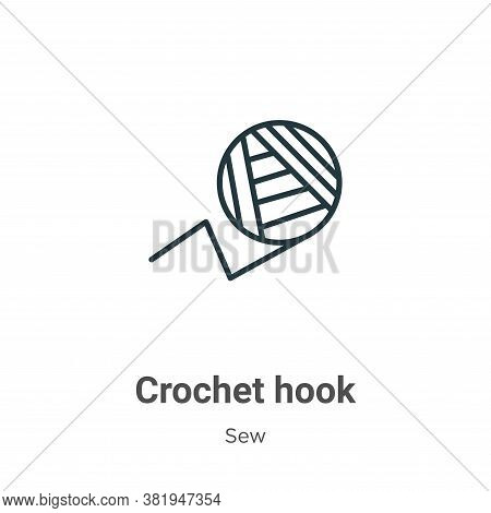 Crochet hook icon isolated on white background from sew collection. Crochet hook icon trendy and mod