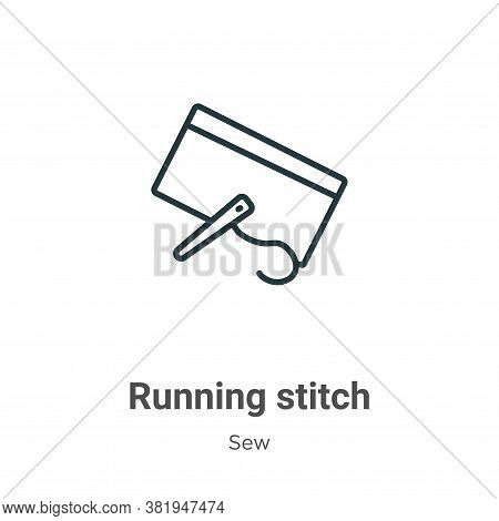 Running stitch icon isolated on white background from sew collection. Running stitch icon trendy and