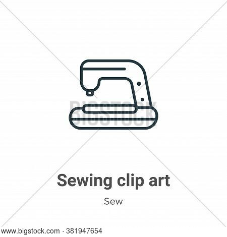 Sewing clip art icon isolated on white background from sew collection. Sewing clip art icon trendy a