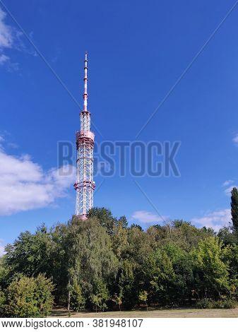 Tower With Tv Transmission On It, Ukraine, Kiev