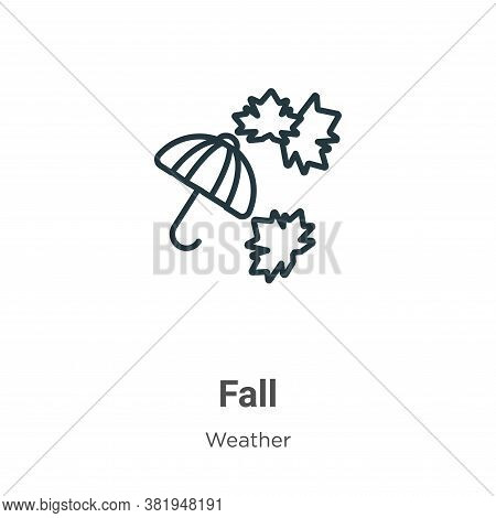 Fall icon isolated on white background from weather collection. Fall icon trendy and modern Fall sym