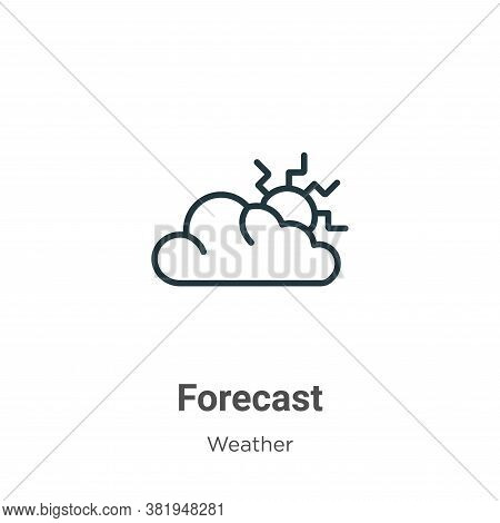 Forecast icon isolated on white background from weather collection. Forecast icon trendy and modern