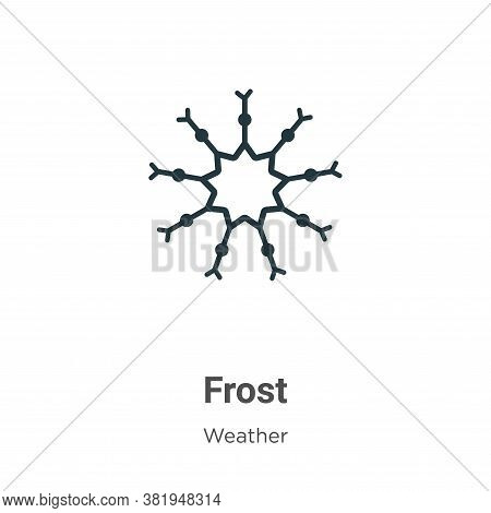 Frost icon isolated on white background from weather collection. Frost icon trendy and modern Frost