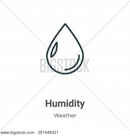 Humidity icon isolated on white background from weather collection. Humidity icon trendy and modern