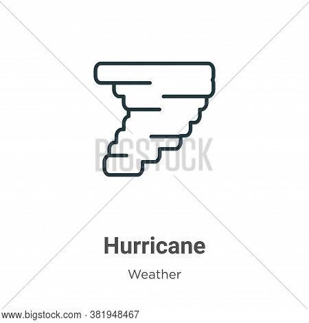 Hurricane icon isolated on white background from weather collection. Hurricane icon trendy and moder