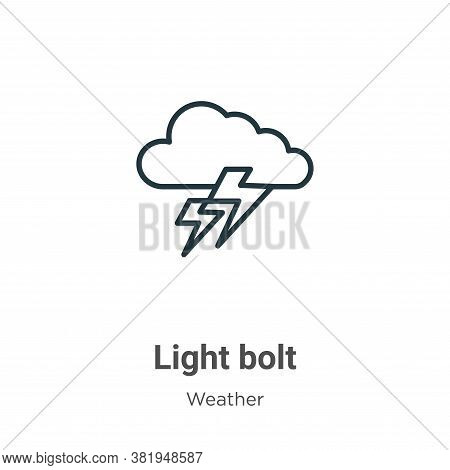 Light bolt icon isolated on white background from weather collection. Light bolt icon trendy and mod