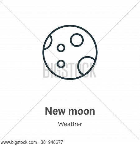 New moon icon isolated on white background from weather collection. New moon icon trendy and modern