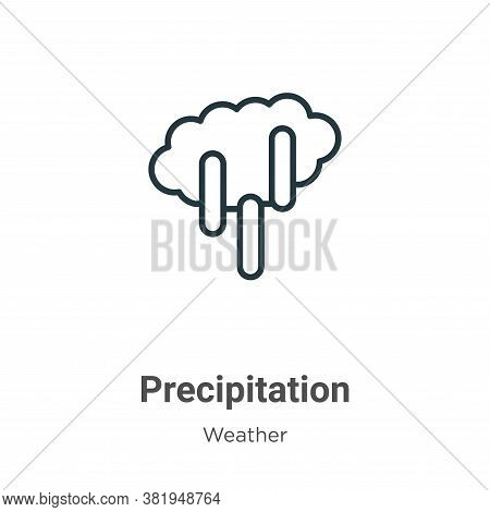 Precipitation icon isolated on white background from weather collection. Precipitation icon trendy a