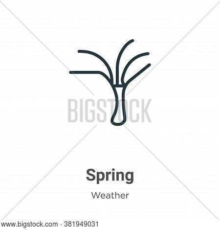 Spring icon isolated on white background from weather collection. Spring icon trendy and modern Spri