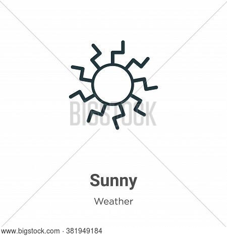 Sunny icon isolated on white background from weather collection. Sunny icon trendy and modern Sunny
