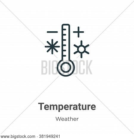 Temperature icon isolated on white background from weather collection. Temperature icon trendy and m