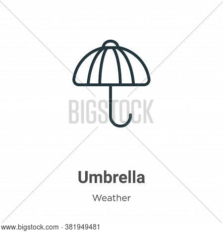 Umbrella icon isolated on white background from weather collection. Umbrella icon trendy and modern