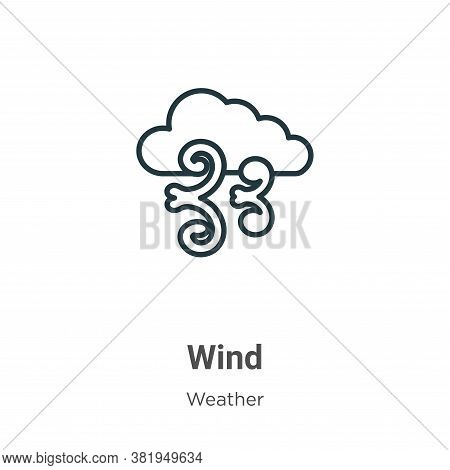 Wind icon isolated on white background from weather collection. Wind icon trendy and modern Wind sym