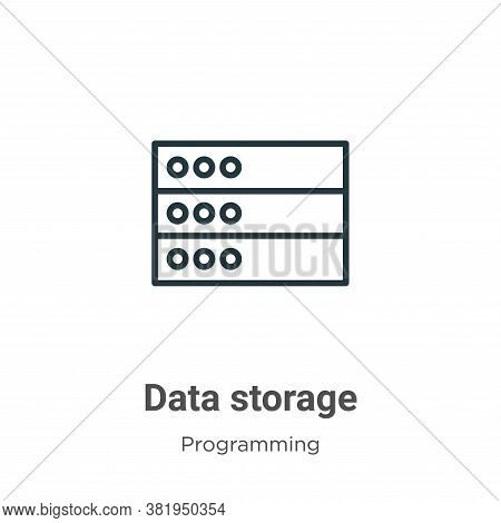 Data storage icon isolated on white background from programming collection. Data storage icon trendy