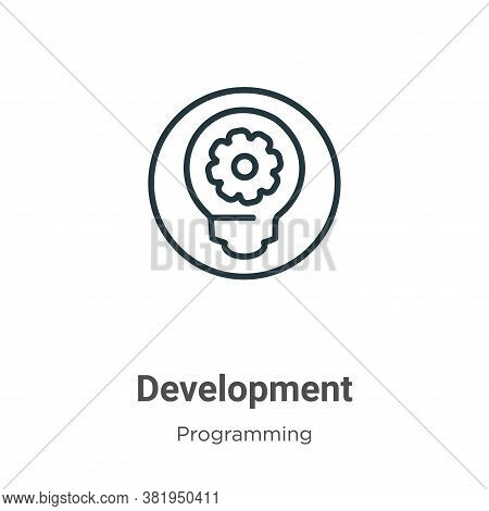 Development icon isolated on white background from programming collection. Development icon trendy a