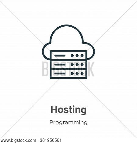Hosting icon isolated on white background from programming collection. Hosting icon trendy and moder