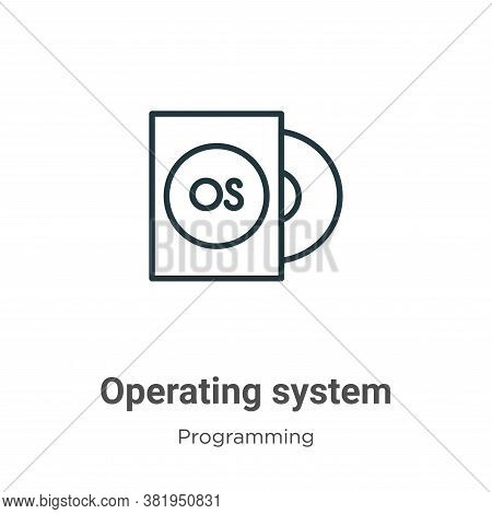Operating system icon isolated on white background from programming collection. Operating system ico