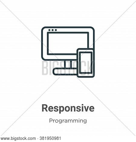 Responsive icon isolated on white background from seo collection. Responsive icon trendy and modern