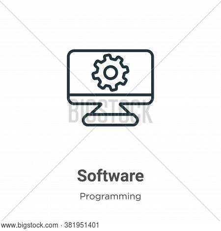 Software icon isolated on white background from programming collection. Software icon trendy and mod