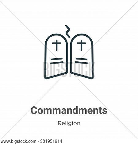 Commandments icon isolated on white background from religion collection. Commandments icon trendy an