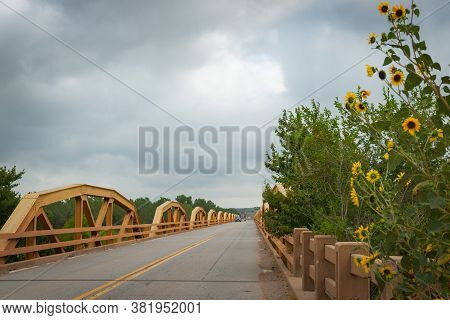 The Pony Bridge On Route 66 The Pony Bridge Crosses The South Canadian River Between El Reno And Hyd