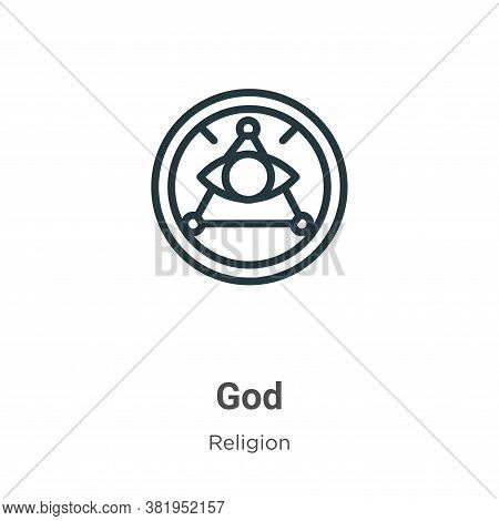 God icon isolated on white background from religion collection. God icon trendy and modern God symbo