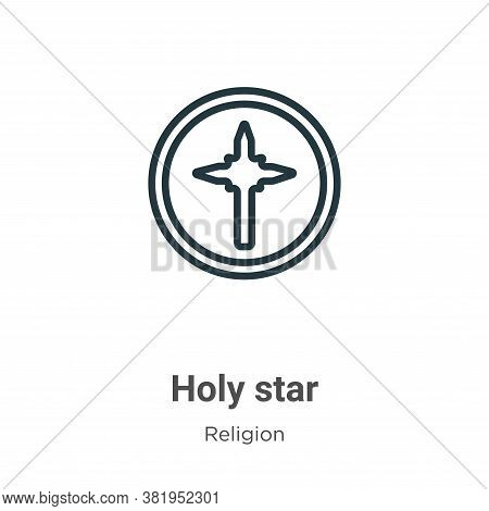Holy star icon isolated on white background from religion collection. Holy star icon trendy and mode