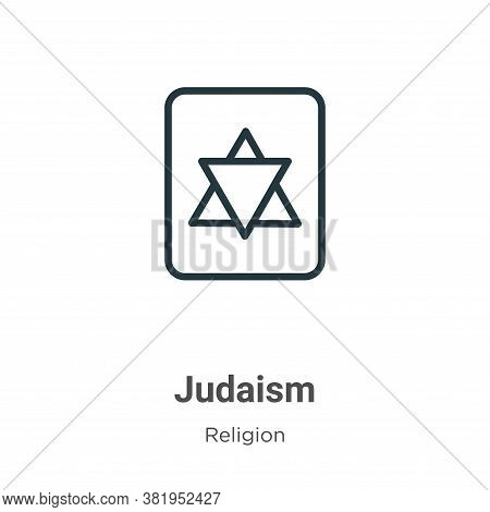 Judaism icon isolated on white background from religion collection. Judaism icon trendy and modern J