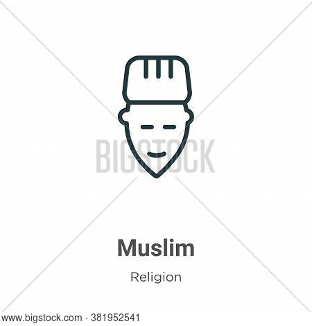 Muslim icon isolated on white background from religion collection. Muslim icon trendy and modern Mus