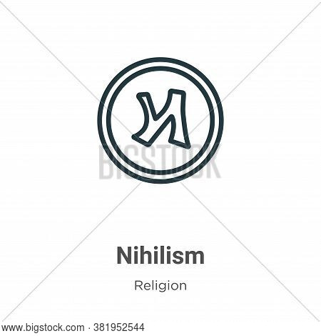 Nihilism icon isolated on white background from religion collection. Nihilism icon trendy and modern