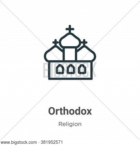 Orthodox icon isolated on white background from religion collection. Orthodox icon trendy and modern