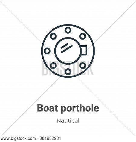 Boat porthole icon isolated on white background from nautical collection. Boat porthole icon trendy