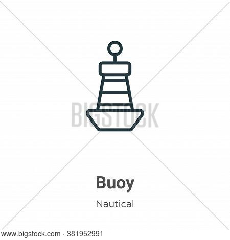 Buoy icon isolated on white background from nautical collection. Buoy icon trendy and modern Buoy sy