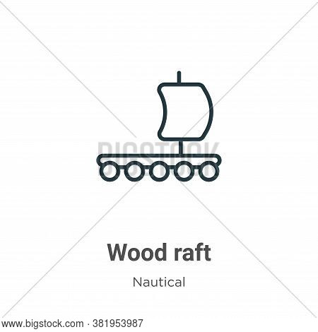 Wood raft icon isolated on white background from nautical collection. Wood raft icon trendy and mode