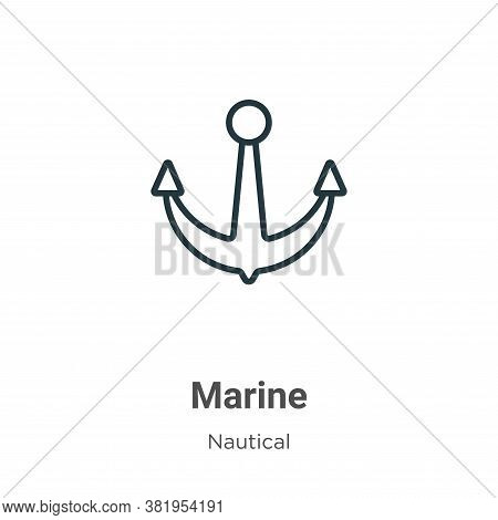 Marine icon isolated on white background from nautical collection. Marine icon trendy and modern Mar