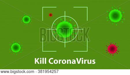 Kill Covid-19 Coronavirus Banner. Kill 2015-ncov Virus Banner.