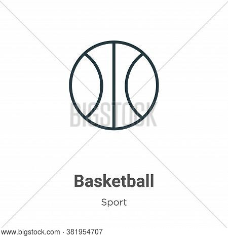 Basketball icon isolated on white background from sport collection. Basketball icon trendy and moder
