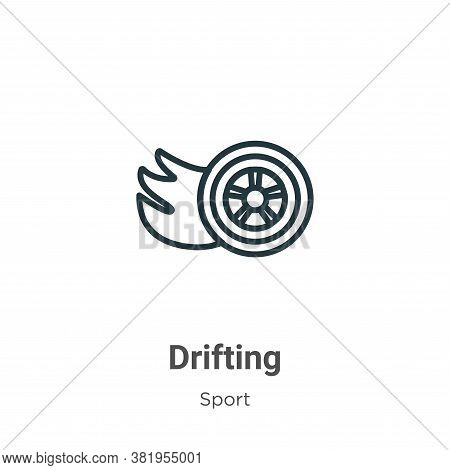 Drifting icon isolated on white background from sport collection. Drifting icon trendy and modern Dr