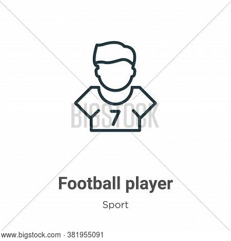 Football player icon isolated on white background from sport collection. Football player icon trendy