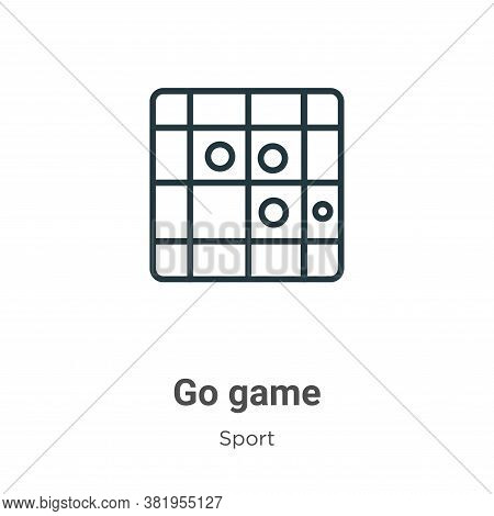 Go game icon isolated on white background from sport collection. Go game icon trendy and modern Go g