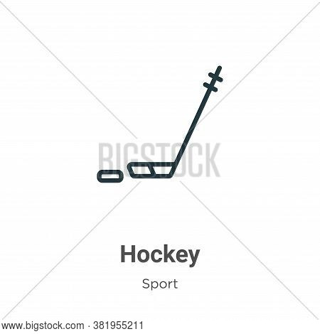 Hockey icon isolated on white background from sport collection. Hockey icon trendy and modern Hockey