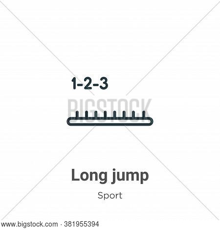Long jump icon isolated on white background from sport collection. Long jump icon trendy and modern