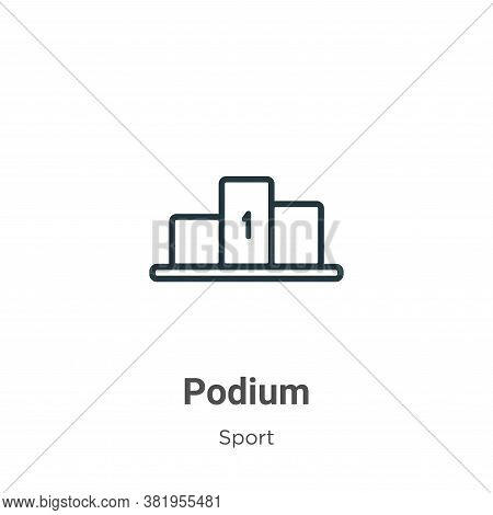 Podium icon isolated on white background from sport collection. Podium icon trendy and modern Podium