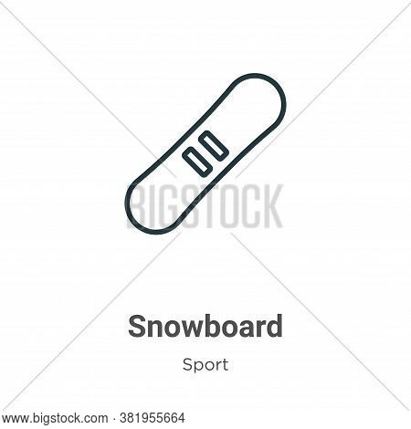 Snowboard icon isolated on white background from sport collection. Snowboard icon trendy and modern