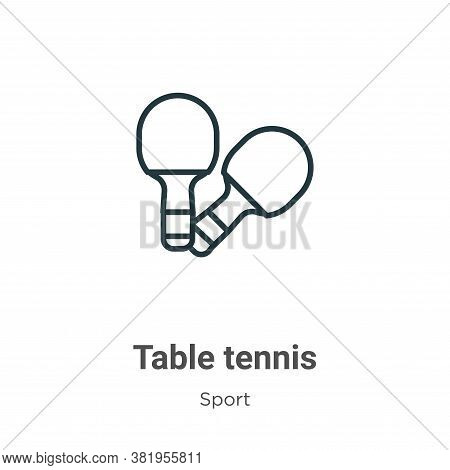 Table tennis icon isolated on white background from sport collection. Table tennis icon trendy and m