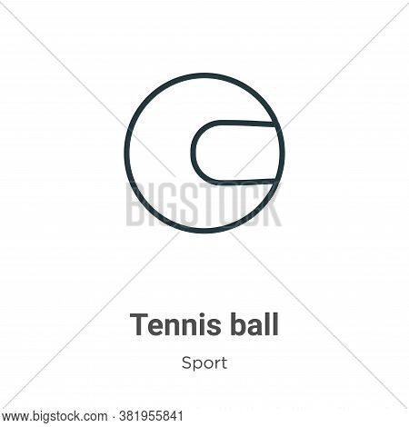 Tennis ball icon isolated on white background from sport collection. Tennis ball icon trendy and mod