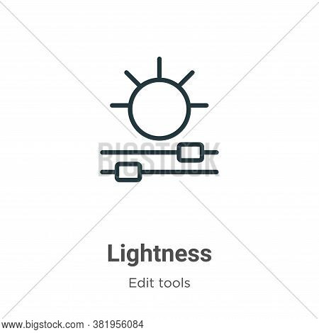 Lightness icon isolated on white background from edit tools collection. Lightness icon trendy and mo