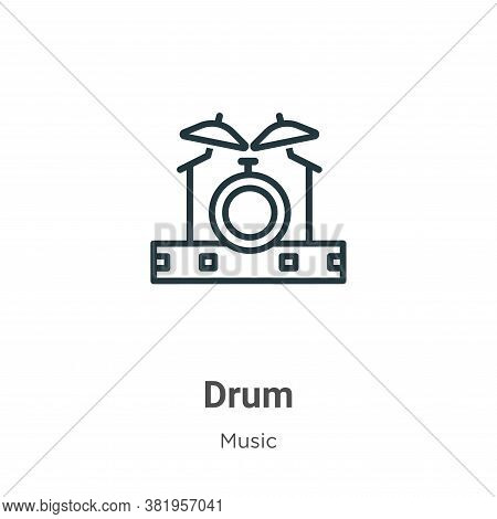 Drum icon isolated on white background from music collection. Drum icon trendy and modern Drum symbo